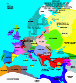 Europe Map 1000 Bc atlas Of European History Wikimedia Commons