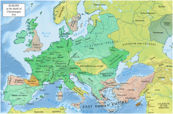 europe in 814 kingdom structures ancestry mapa de
