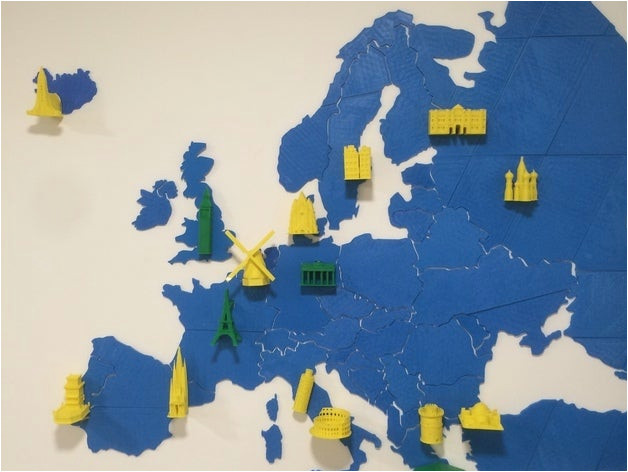 europe map puzzle by utechlab thingiverse