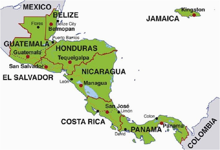 map of central america countries and capitals homeschool