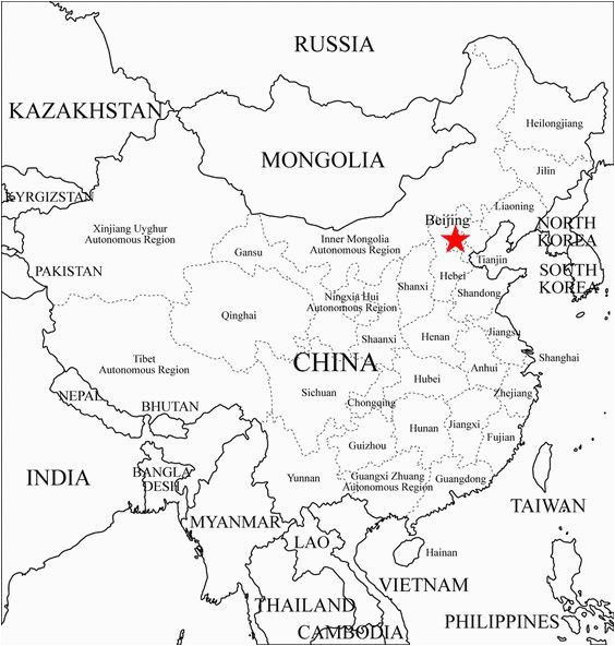 free coloring maps for kids china provinces map outline