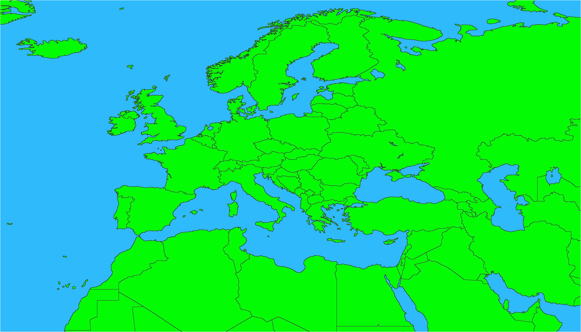 53 strict map europe no names
