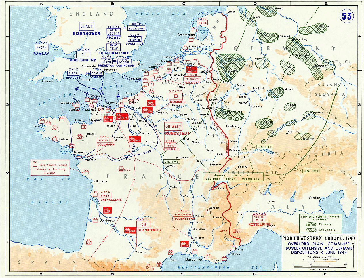 overlord plan combined bomber offensive and german