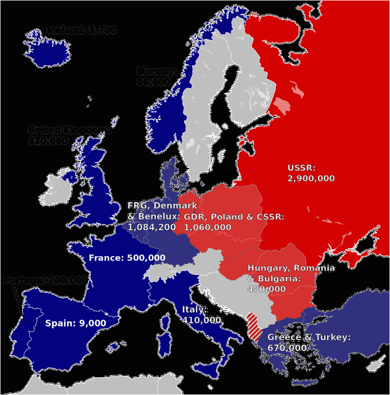 Europe Map Post Ww2 History and Members Of the Warsaw Pact