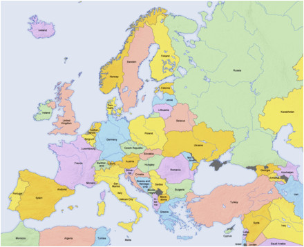 Europe Map without Names List Of sovereign States and Dependent Territories In Europe