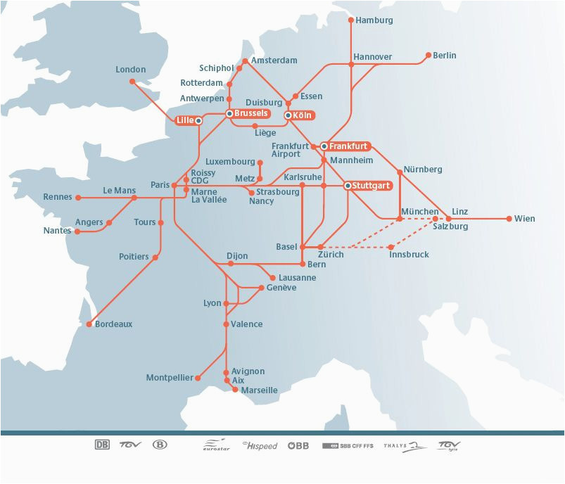 Europe Train Map Planner Planning Your Trip by Rail In Europe