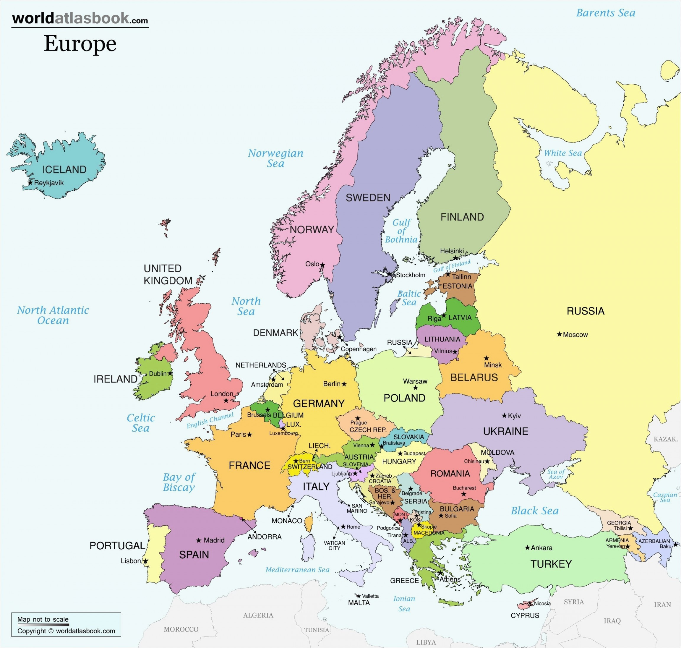 unlabeled map of europe climatejourney org