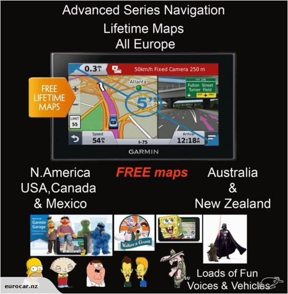 garmin nuvi 2589lm europe free 2020 n america nz au maps speed camera data