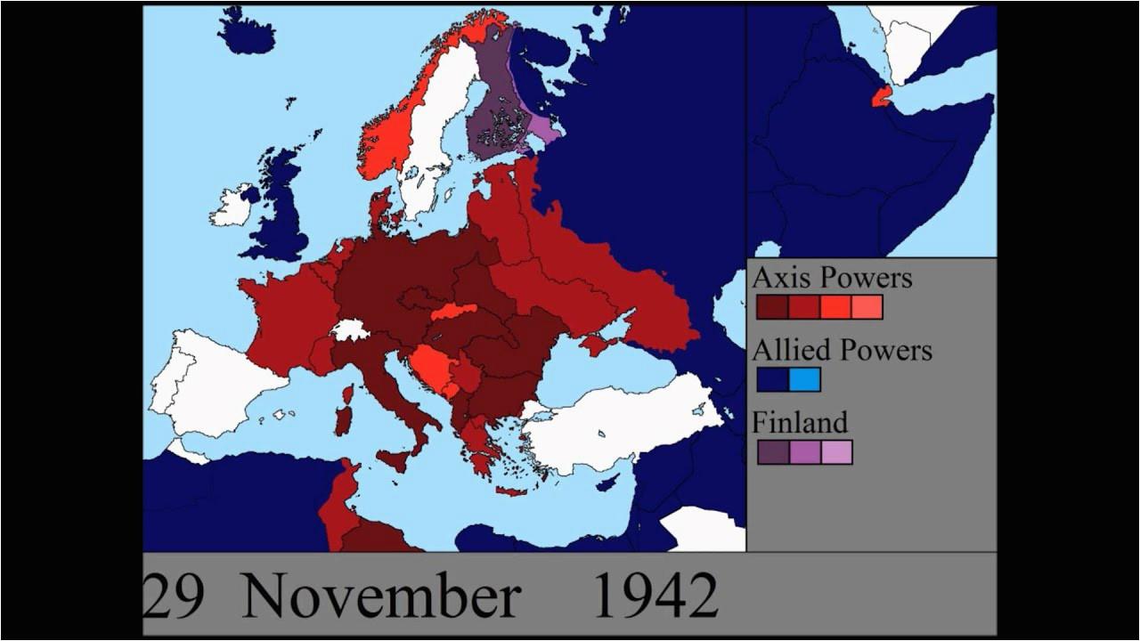 watch world war ii rage across europe in a 7 minute time
