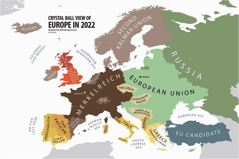 europe according to the future land of maps map funny