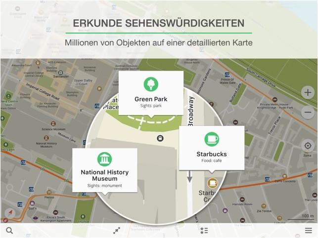 maps me karte und reiseplaner im app store