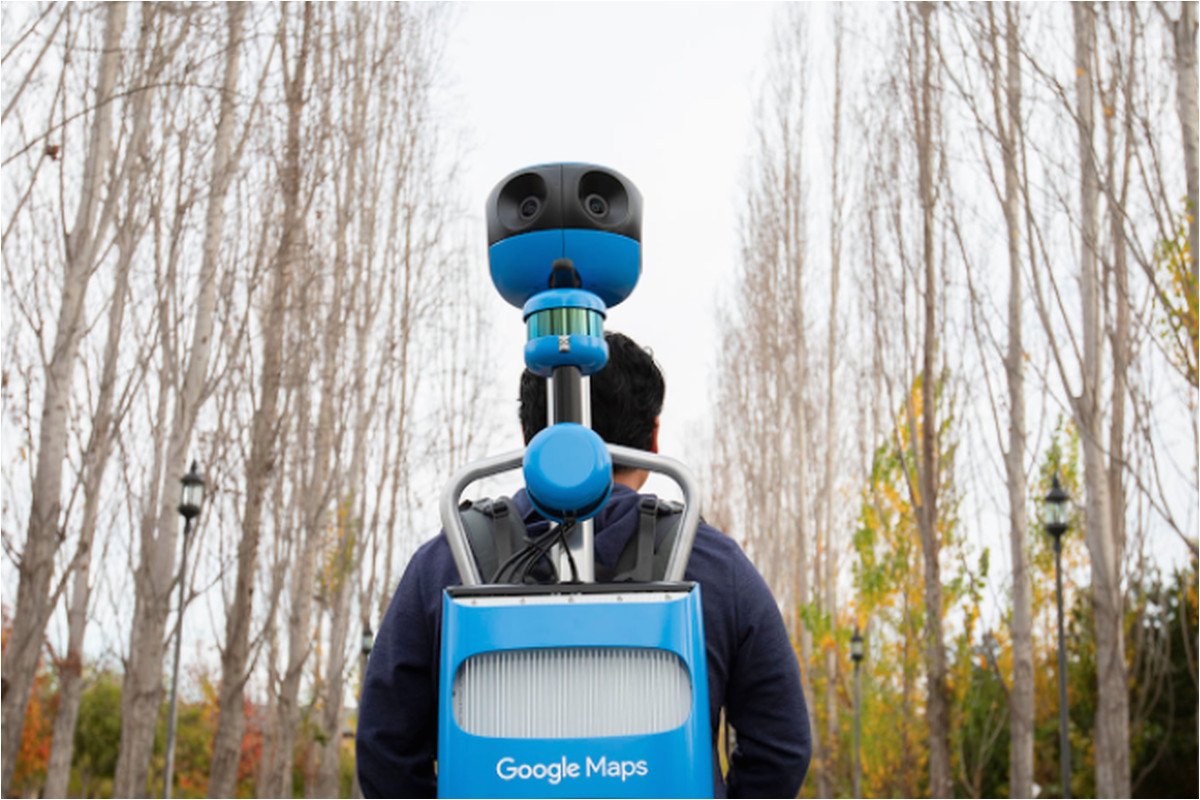 google updated its street view trekker to look slightly less