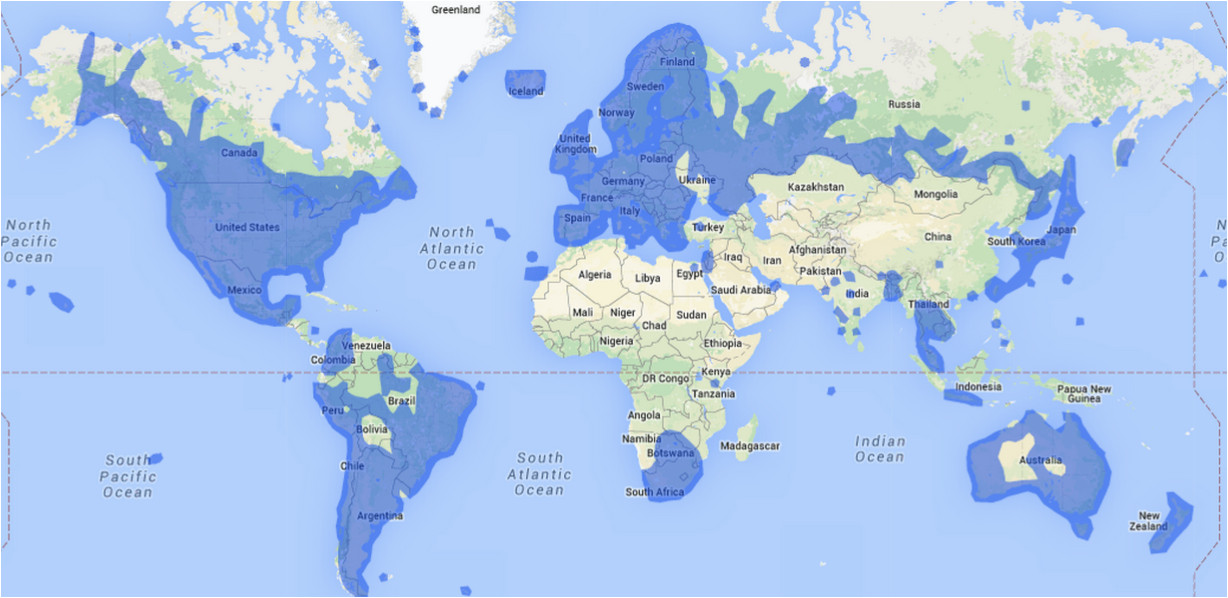 this map shows all the countries google maps street view