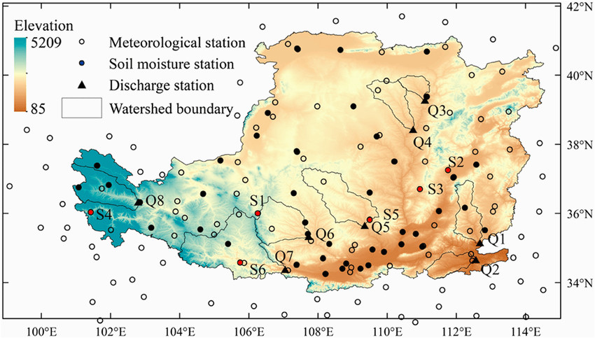 location of study area meteorological stations soil