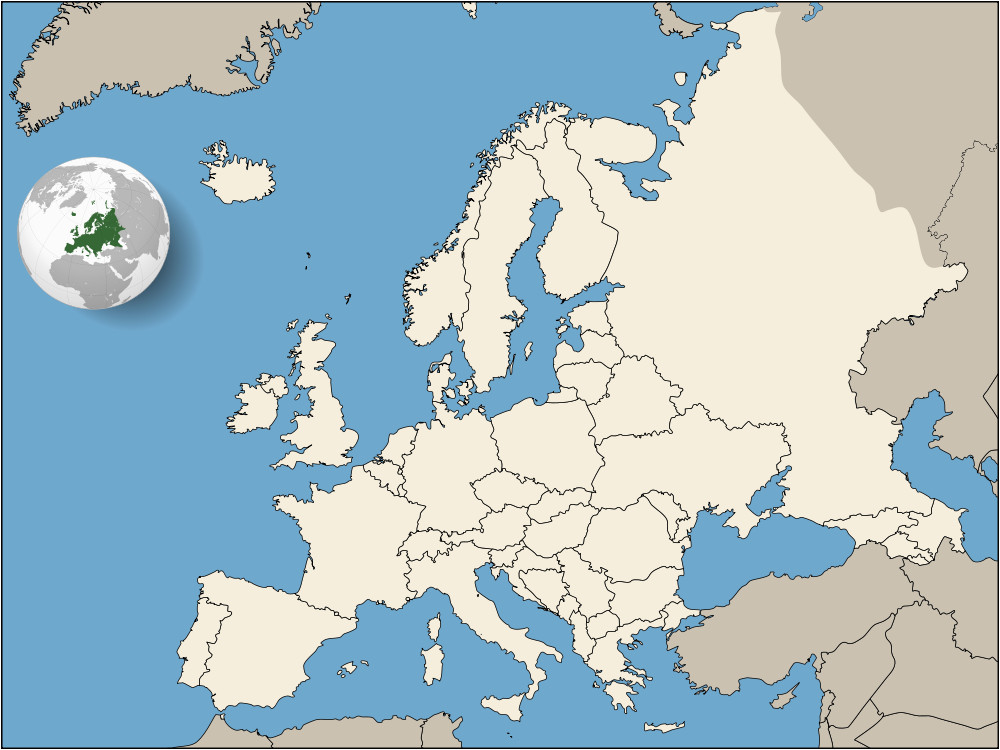 Interactive Maps Of Europe Europe Europa Wikimedia Commons