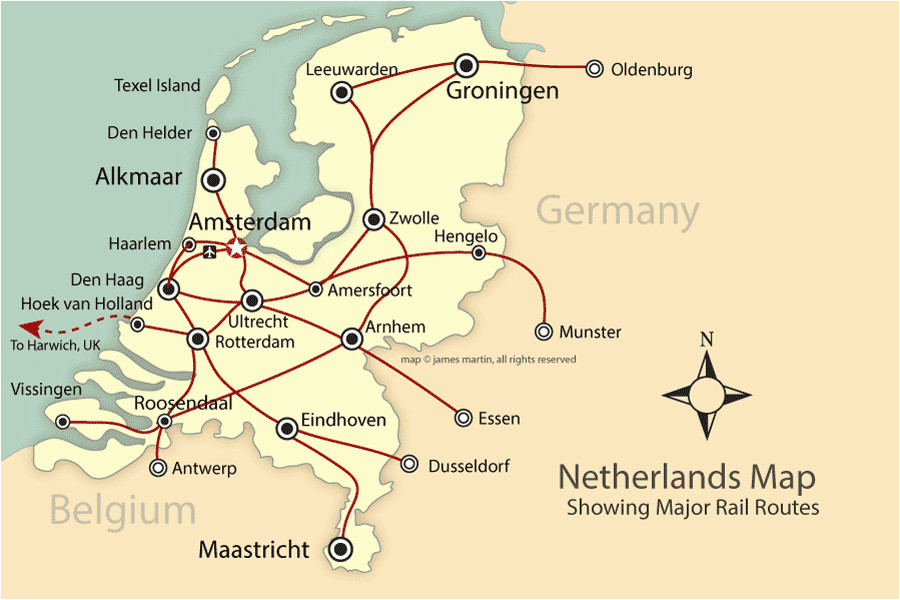 rail and city map of the netherlands holland mapping europe