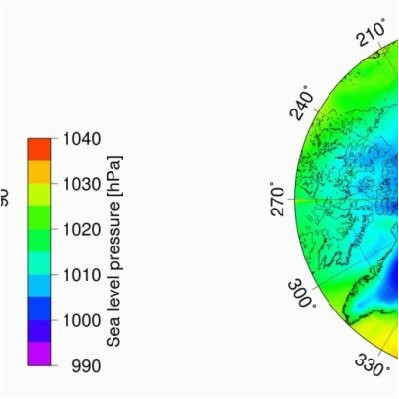 a sea level pressure and b two meter temperature data