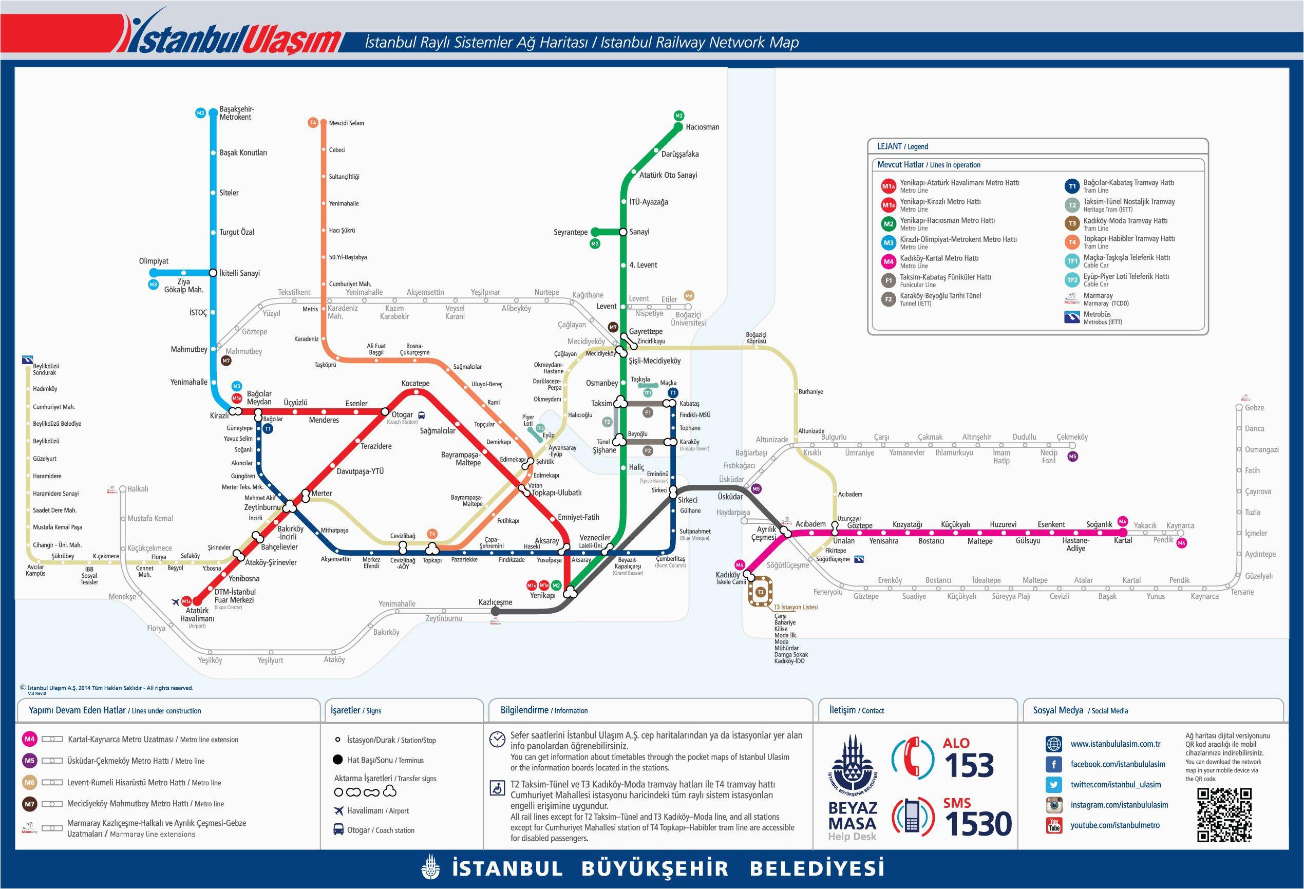 public transport map of istanbul turkey turkey istanbul