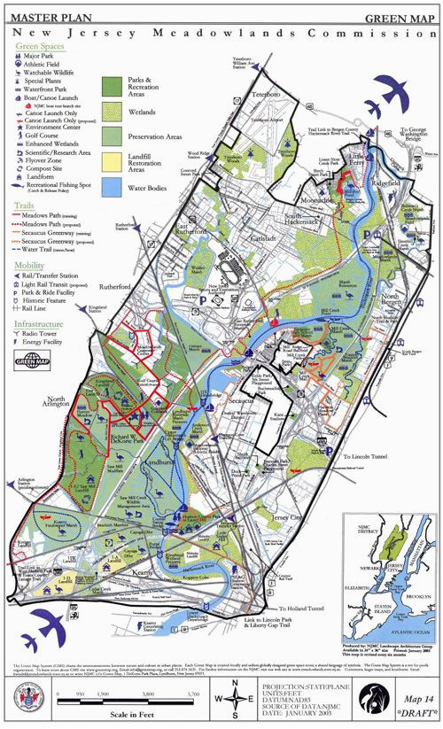 new jersey meadowlands map jersey the northeast north