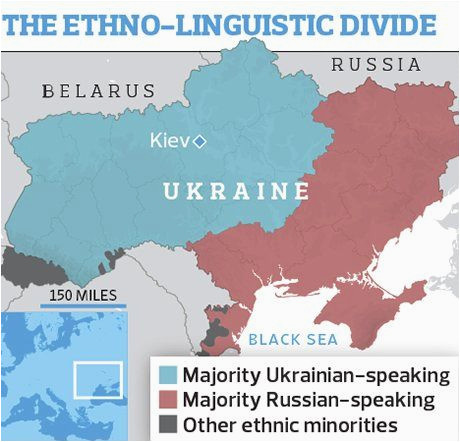 Kiev Europe Map Ukraine Tale Of Two Nations for Country Locked In Struggle