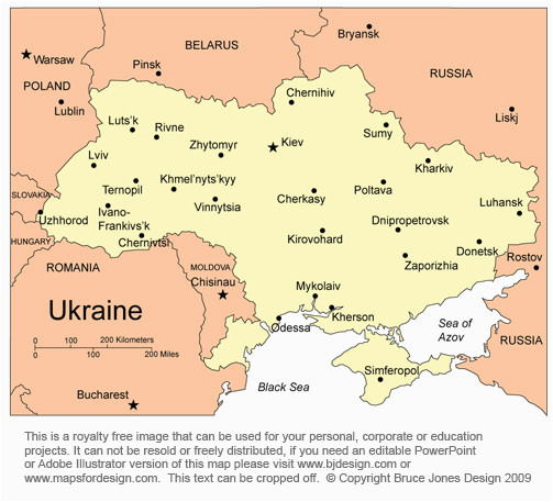 ukraine on the map of europe casami
