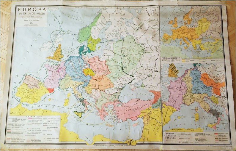 old very big map 69 x 46 175 cm x 117 cm historical map of the world old wall chart big school map didactic map religious territories