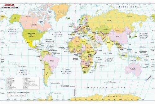 34 scrupulous world map with coordinates pdf