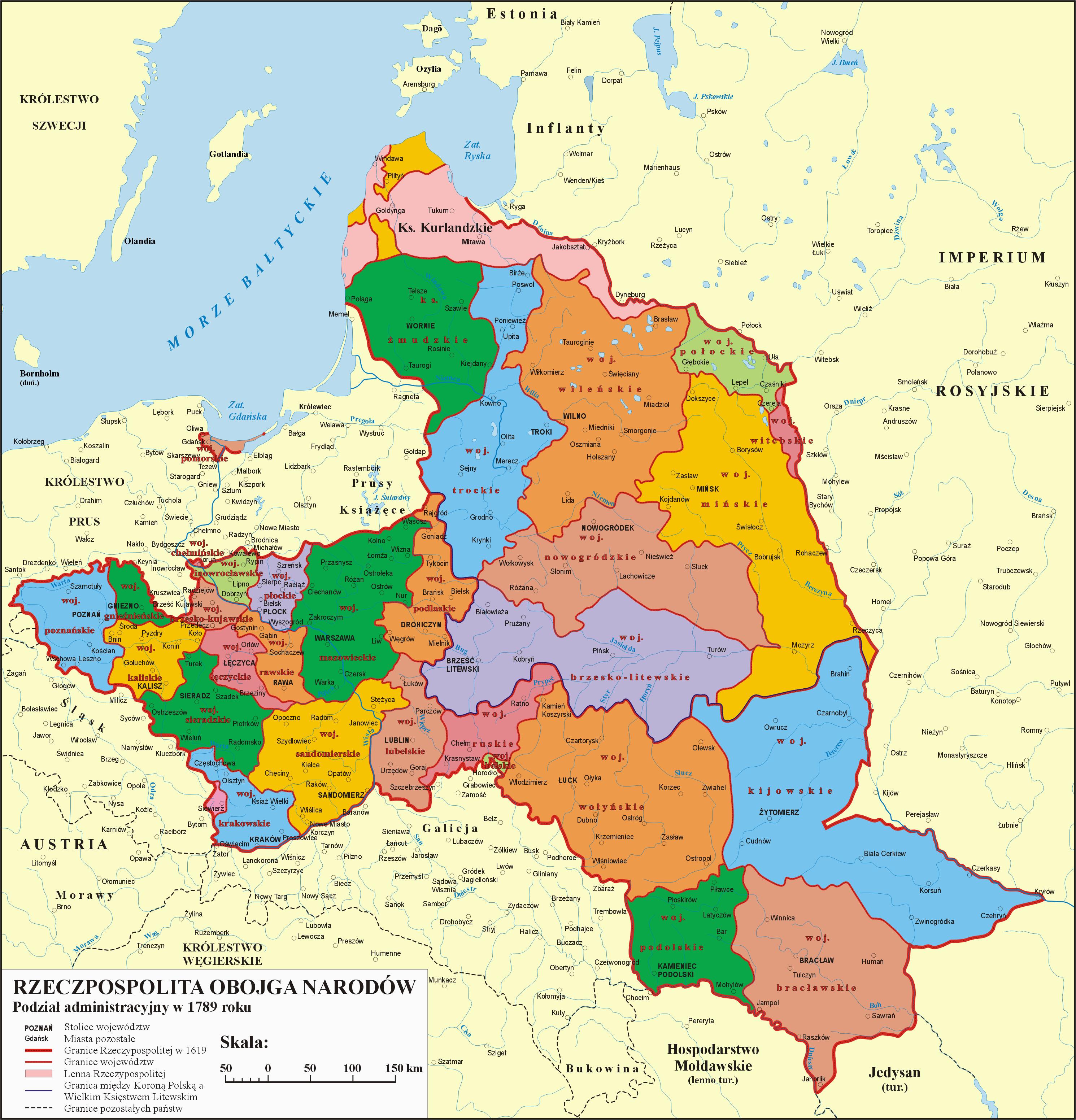poland 1773 1793 administrative division of the polish