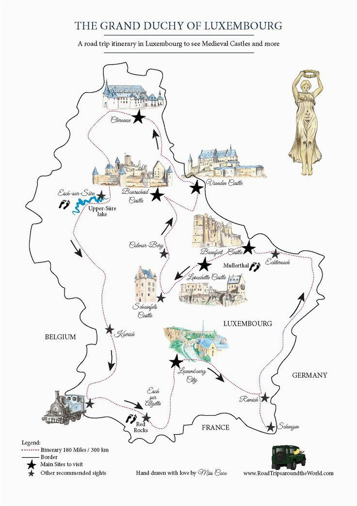 a road trip in luxembourg free printable map for a great