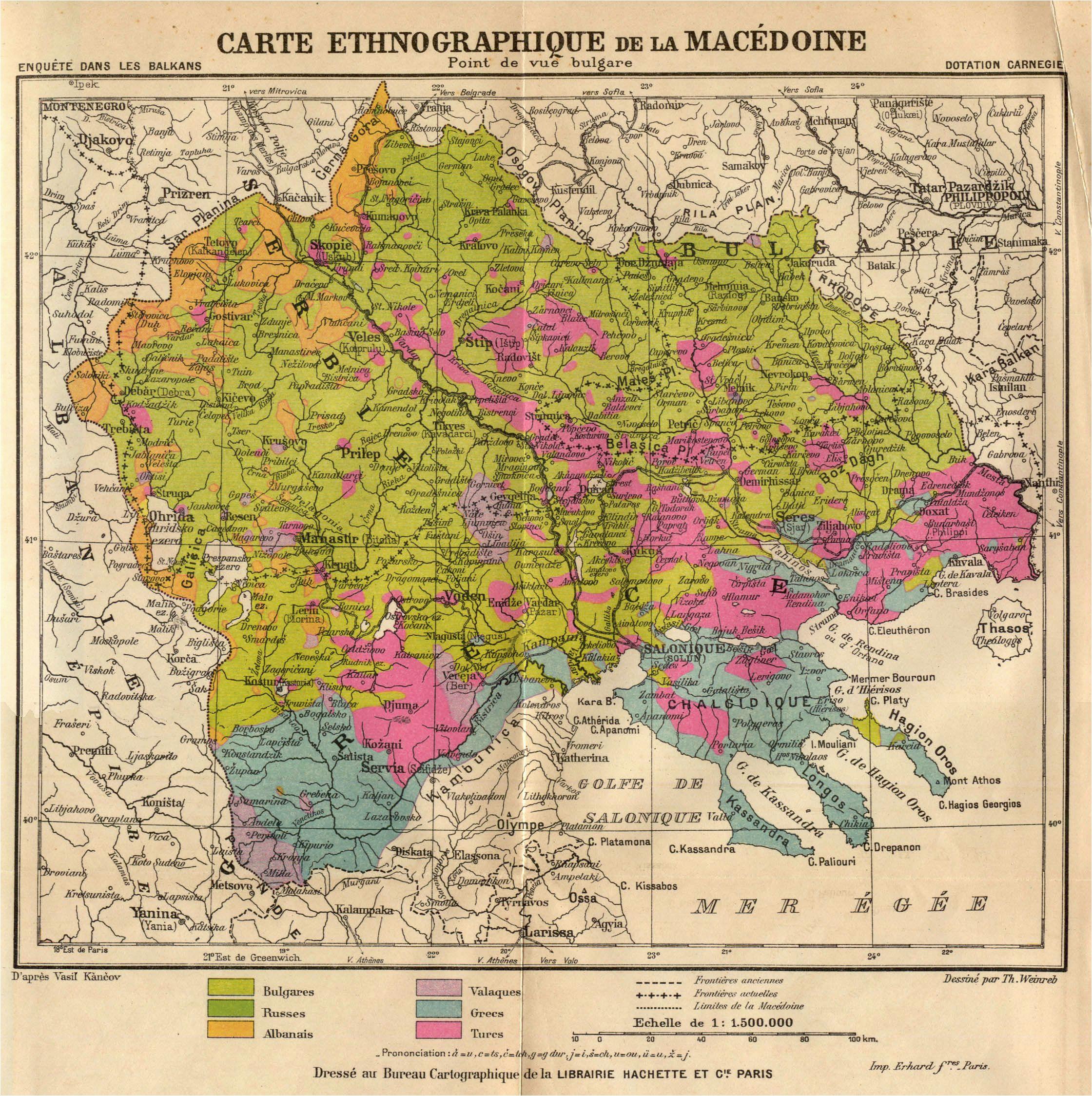 Macedonia On Map Of Europe Bulgarian Version Of Ethnographic Macedonia 1914 Maps