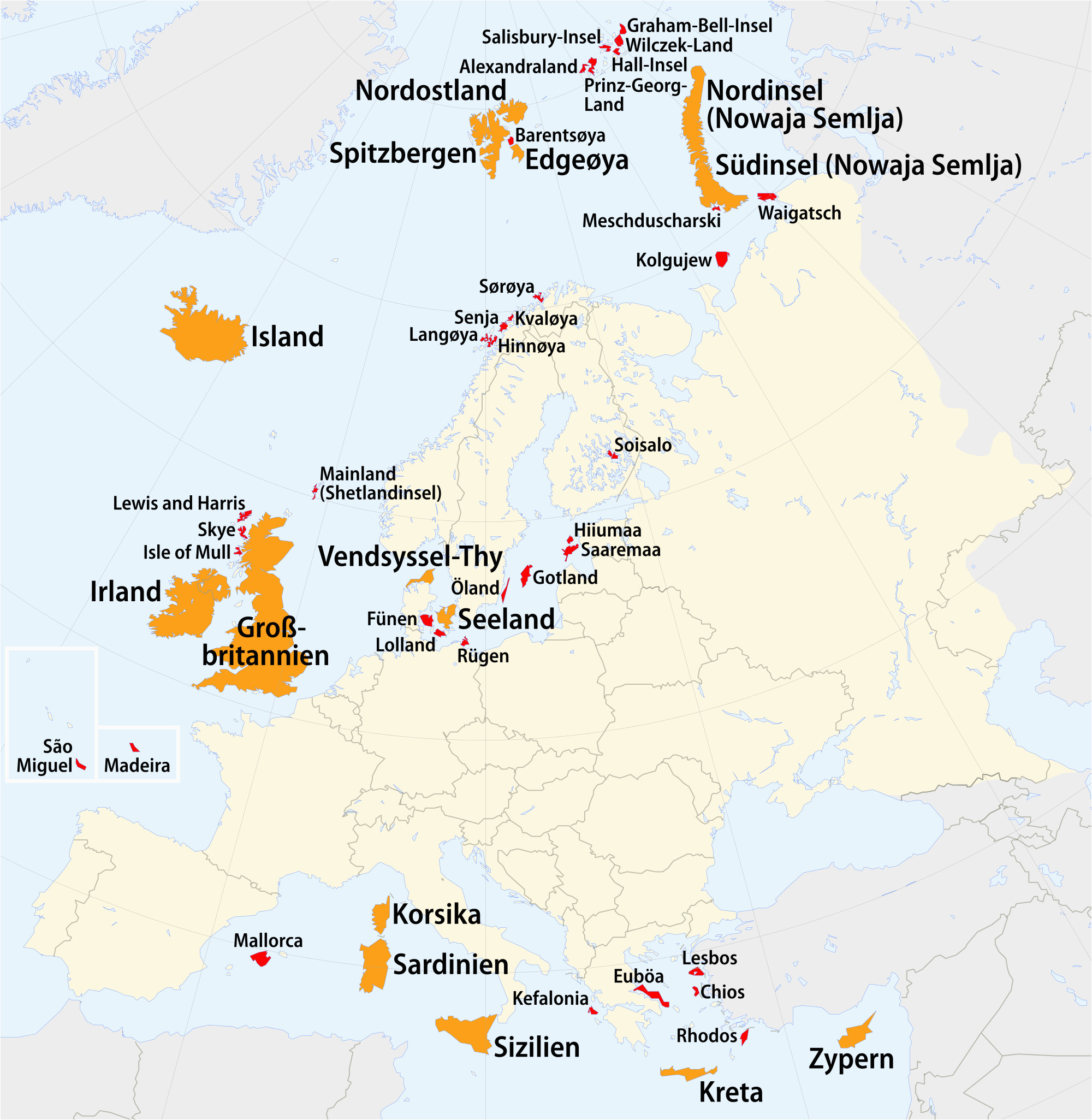 liste europaischer inseln nach flache wikipedia