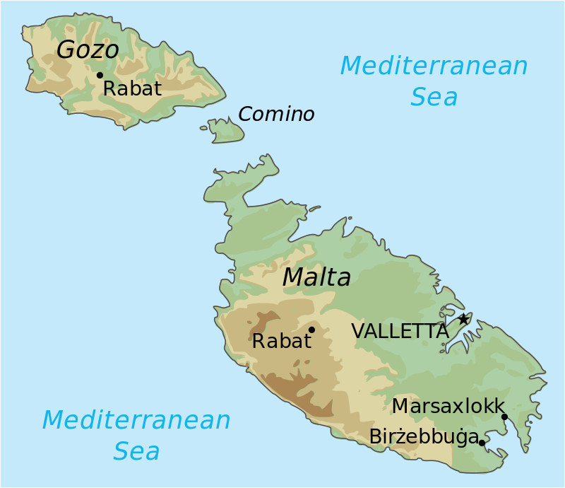 topographic map of malta draw it to know it in 2019