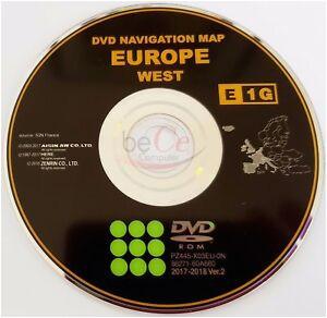 details zu toyota lexus original navigation dvd e1g 2018 west europa europe update map