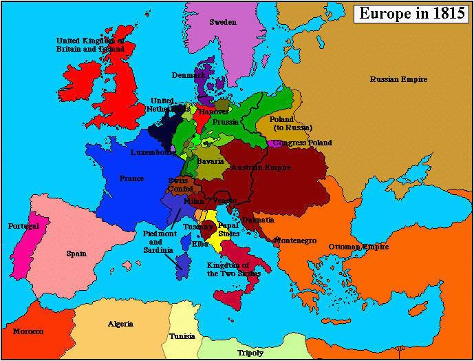 world map 1815 woestenhoeve