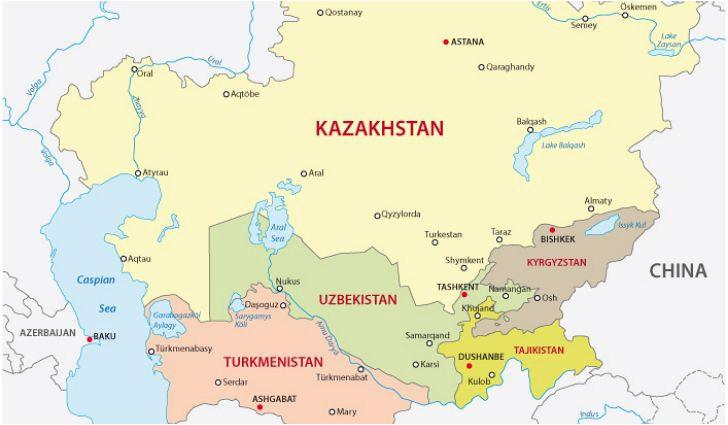 central asian countries worldatlas com