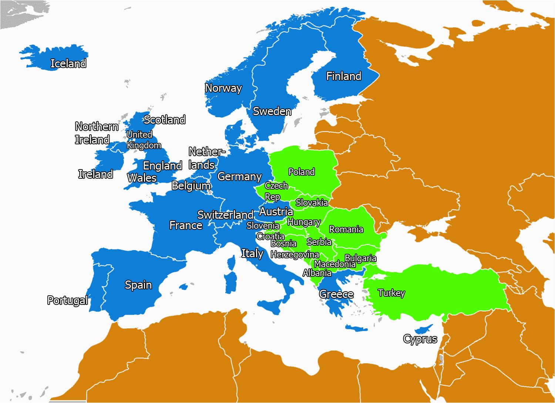 map 0f europe