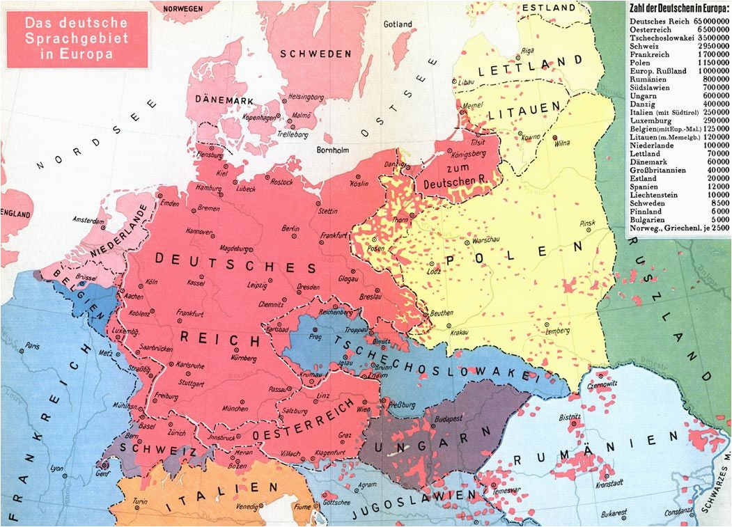german language before 1940 poland linguistic maps