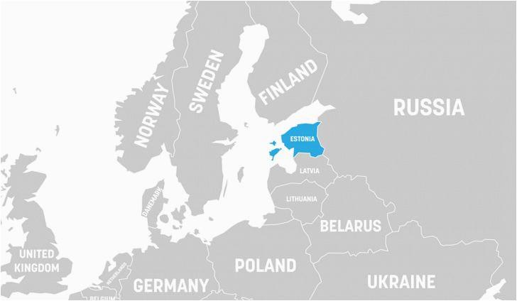 Map Of Estonia In Europe What Continent is Estonia In Worldatlas Com