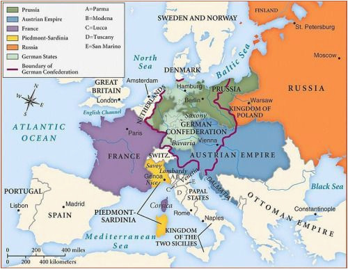 Map Of Europe 1850 Betweenthewoodsandthewater Map Of Europe after the Congress