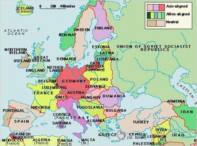 europe 1919 map