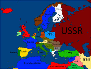 Map Of Europe 1950 Maps for Mappers Historical Maps thefutureofeuropes Wiki