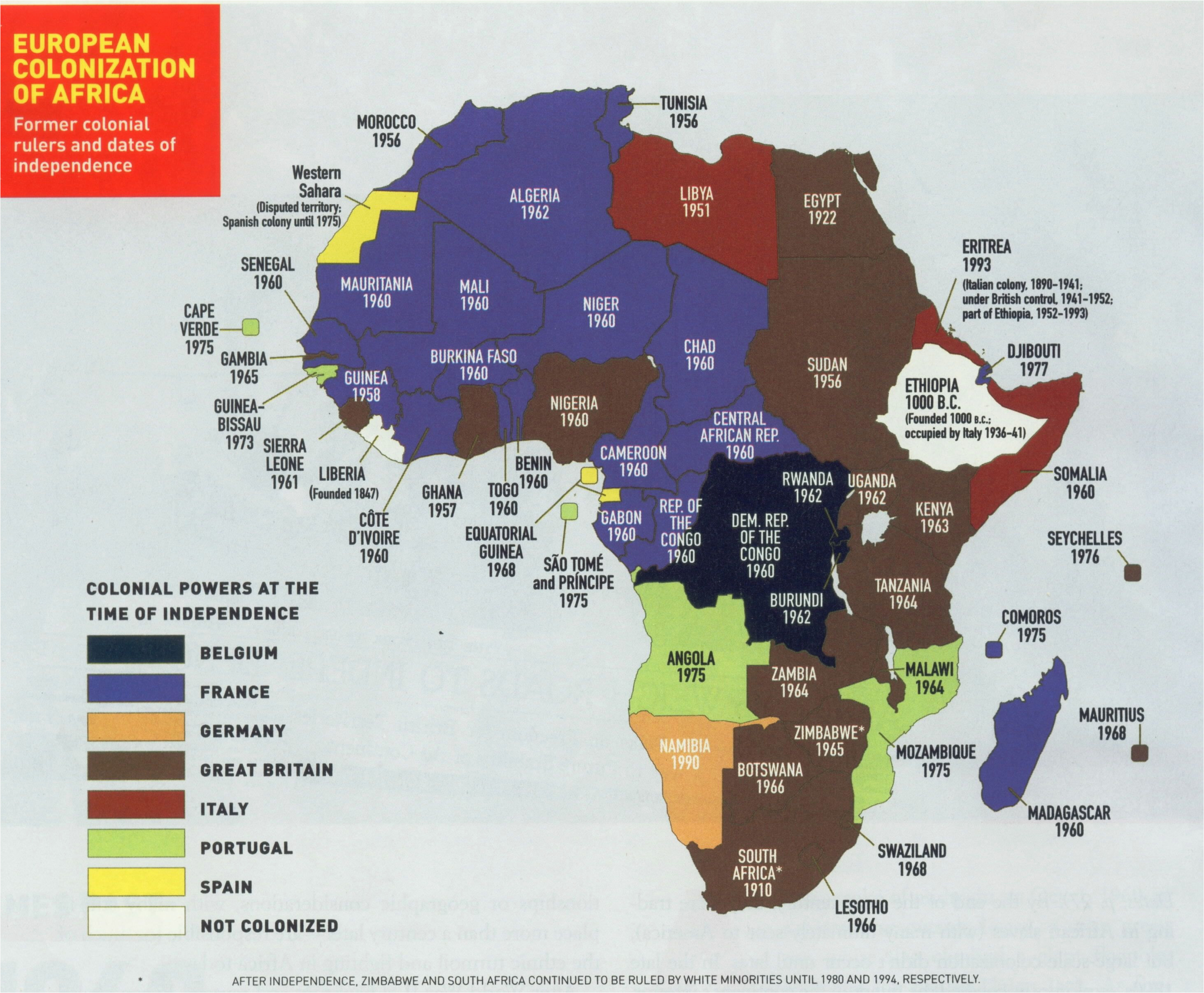 european colonization of africa best infographics