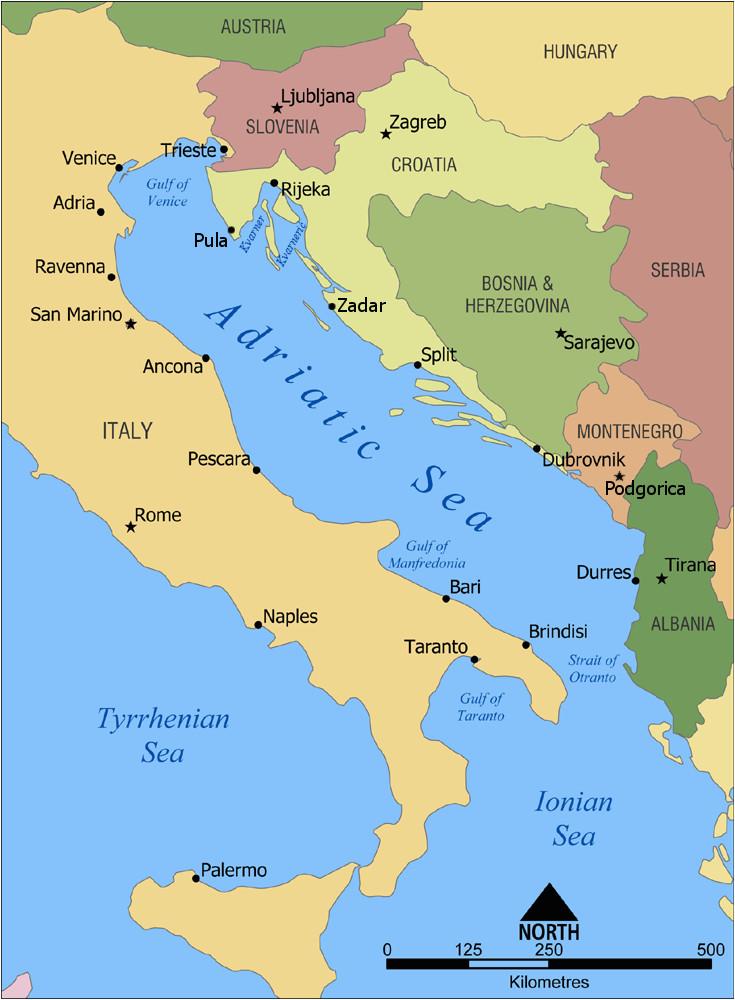 Map Of Europe Adriatic Sea Adriatic Sea Wikipedia