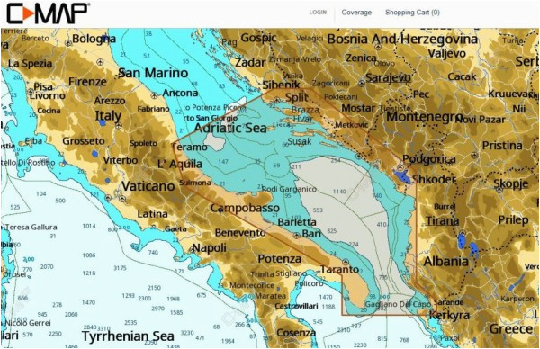 c map nt wide adriatic sea south c card