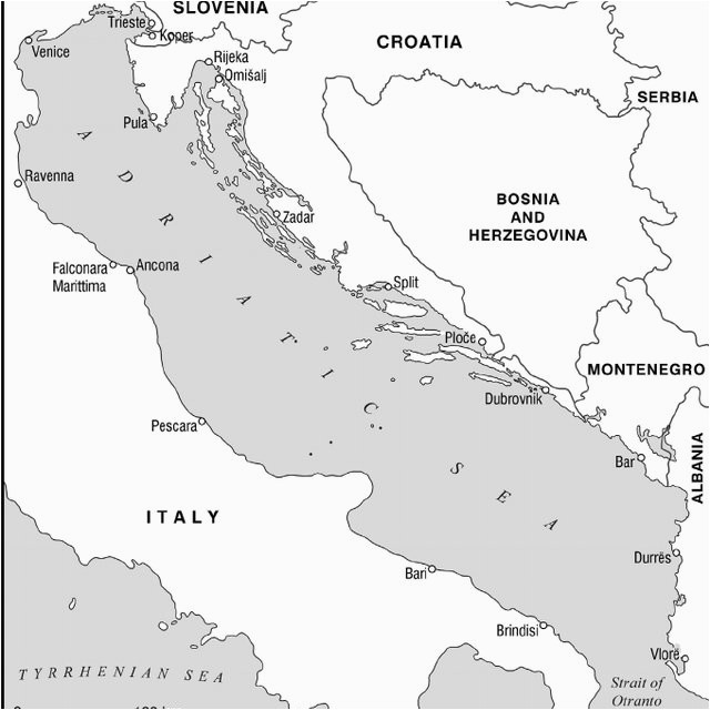 map 1 th e adriatic sea coastal states and main ports