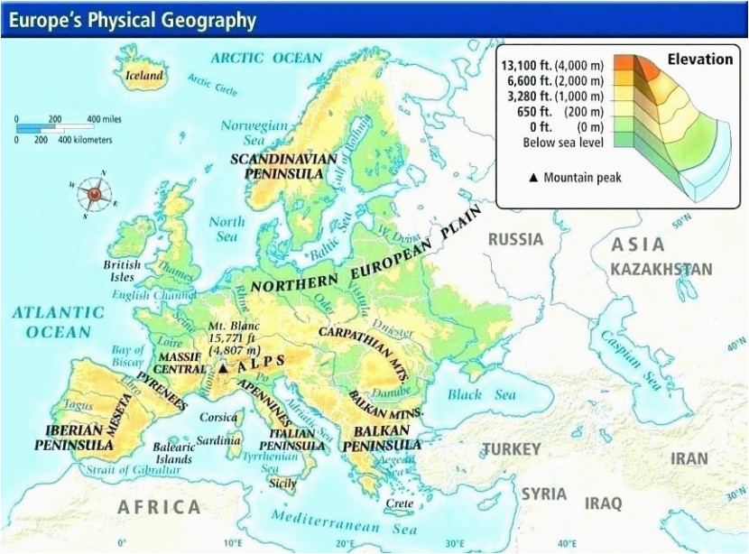 physical map europe climatejourney org