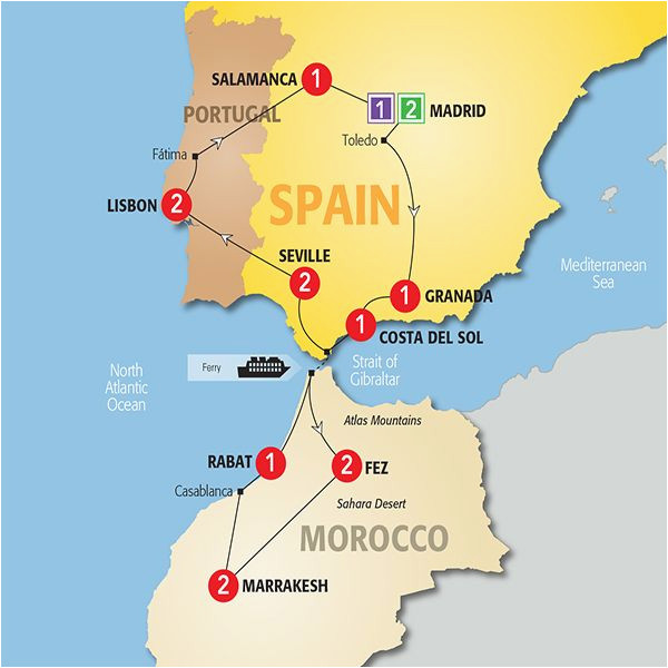 map of spain and morocco so helpful map of spain