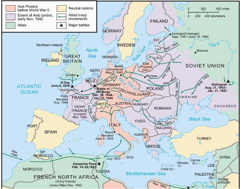 Map Of Europe and north Africa During World War 2 World War 2 Map In Europe and north Africa Hairstyle