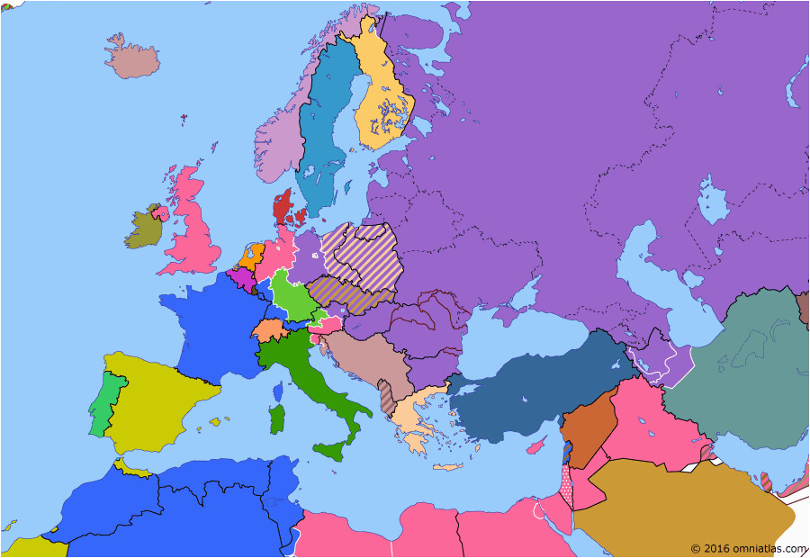 political map of europe the mediterranean on 19 apr 1946