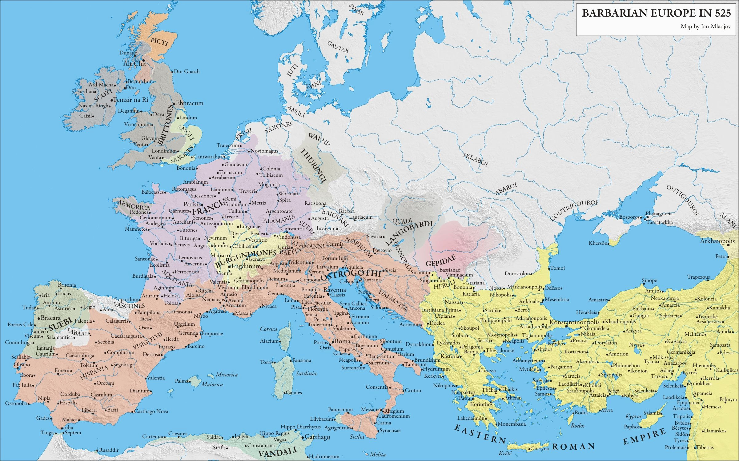 europe 525 mapas historical maps roman empire map